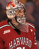 Merrick Madsen (Harvard -  31) - The Boston College Eagles defeated the Harvard University Crimson 3-2 in the opening round of the Beanpot on Monday, February 1, 2016, at TD Garden in Boston, Massachusetts.