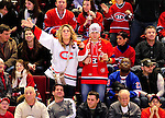 23 January 2010: Montreal Canadiens fans enjoy a beer and celebrate a goal against the New York Rangers at the Bell Centre in Montreal, Quebec, Canada. The Canadiens shut out the Rangers 6-0. Mandatory Credit: Ed Wolfstein Photo