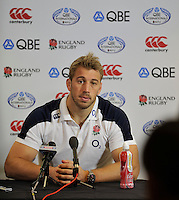 Twickenham, England.Chris Robshaw of England during the England training and Media session during the England captains run for the QBE Internationals England v Australia at Twickenham Stadium on 17 November. Twickenham, England, November 16. 2012.