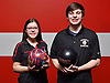 East Islip sibling bowlers Julianna and James Spina pose for a portrait at AMF Babylon Lanes on Thursday, Feb. 16, 2017.
