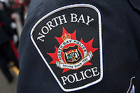 North Bay Police badge is seen during a police memorial parade in Ottawa Sunday September 26, 2010.