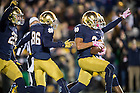 Oct. 17, 2015; Amir Carlisle (3) scores a touchdown after a fumble recovery in the first quarter against the USC Trojans at Notre Dame Stadium. Notre Dame won 41-31. (Photo by Matt Cashore)