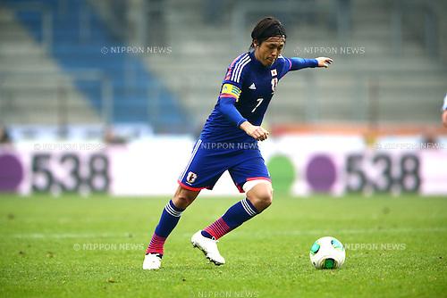 Yasuhito Endo (JPN),<br /> NOVEMBER 16, 2013 - Football / Soccer :<br /> International friendly match between Japan 2-2 Netherlands at Cristal Arena in Genk, Belgium. (Photo by Kenzaburo Matsuoka/AFLO)