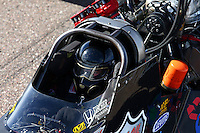 Feb 21, 2014; Chandler, AZ, USA; NHRA top fuel dragster driver Scott Palmer during qualifying for the Carquest Auto Parts Nationals at Wild Horse Pass Motorsports Park. Mandatory Credit: Mark J. Rebilas-USA TODAY Sports