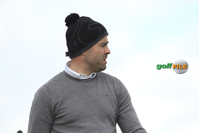 Sean Ryan (The Royal Dublin) on the 14th tee during Round 3 of the Irish Amateur Open Championship at Royal Dublin on Saturday 9th May 2015.<br /> Picture:  Thos Caffrey / www.golffile.ie