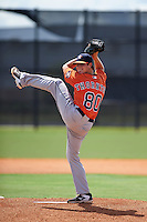 Houston Astros pitcher Trent Thornton (80) during an instructional league game against the Atlanta Braves on October 1, 2015 at the Osceola County Complex in Kissimmee, Florida.  (Mike Janes/Four Seam Images)