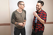 LINKIN PARK - Chester Bennington RIP and Mike Shinoda - photosession in Los Angeles CA USA - 25 Oct 2014.  Photo credit: Paul Harries/IconicPix **NOT AVAILABLE FOR UK MUSIC MAGAZINES**