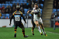 Matt Banahan of Bath Rugby takes on the Wasps defence. European Rugby Champions Cup match, between Wasps and Bath Rugby on December 13, 2015 at the Ricoh Arena in Coventry, England. Photo by: Patrick Khachfe / Onside Images