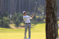 Brandon Stone (RSA) plays his 2nd shot on the 9th hole during Saturday's Round 3 of the 2018 Turkish Airlines Open hosted by Regnum Carya Golf &amp; Spa Resort, Antalya, Turkey. 3rd November 2018.<br /> Picture: Eoin Clarke | Golffile<br /> <br /> <br /> All photos usage must carry mandatory copyright credit (&copy; Golffile | Eoin Clarke)