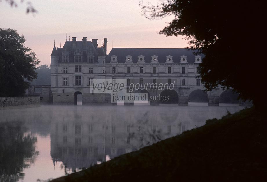 Europe/France/Centre/37/Indre-et-Loire/Chenonceau : Le château à l'aube