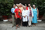 Members of the Veterans for Peace 2013 tour pose for a group picture with doctors from the Agent Orange children's ward of Tu Du Maternity Hospital in Ho Chi Minh City, Vietnam. Members of the group toured Vietnam to learn about efforts to mitigate the suffering of the country's Agent Orange victims and others who have been maimed by land mines and bombs left over from the Vietnam War. May 1, 2013.