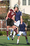 El Segundo, CA 02/04/10 - \t6\ and unidentified El Segundo player in action during the El Segundo - Torrance league game, El Segundo defeated Torrance with a late minute goal in the second overtime period.