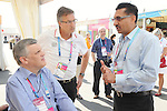 November 12 2011 - Guadalajara, Mexico:  CEO Henry Storgaard joins Lieutenant Governor Honorable David Onley and Minister of Sport Bal Gossal as they tour the Athletes Village at the 2011 Parapan American Games.  Photos: Matthew Murnaghan/Canadian Paralympic Committee