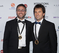 NEW YORK, NY - NOVEMBER 19: Julian Rousso  and Miguel Brailovsky at the 40th International Emmy Awards in New York. November 19, 2012. © Diego Corredor/MediaPunch Inc. /NortePhoto