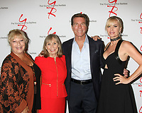 LOS ANGELES - AUG 19:  Beth Maitland, Marla Adams, Peter Bergman, Eileen Davidson at the Young and Restless Fan Event 2017 at the Marriott Burbank Convention Center on August 19, 2017 in Burbank, CA