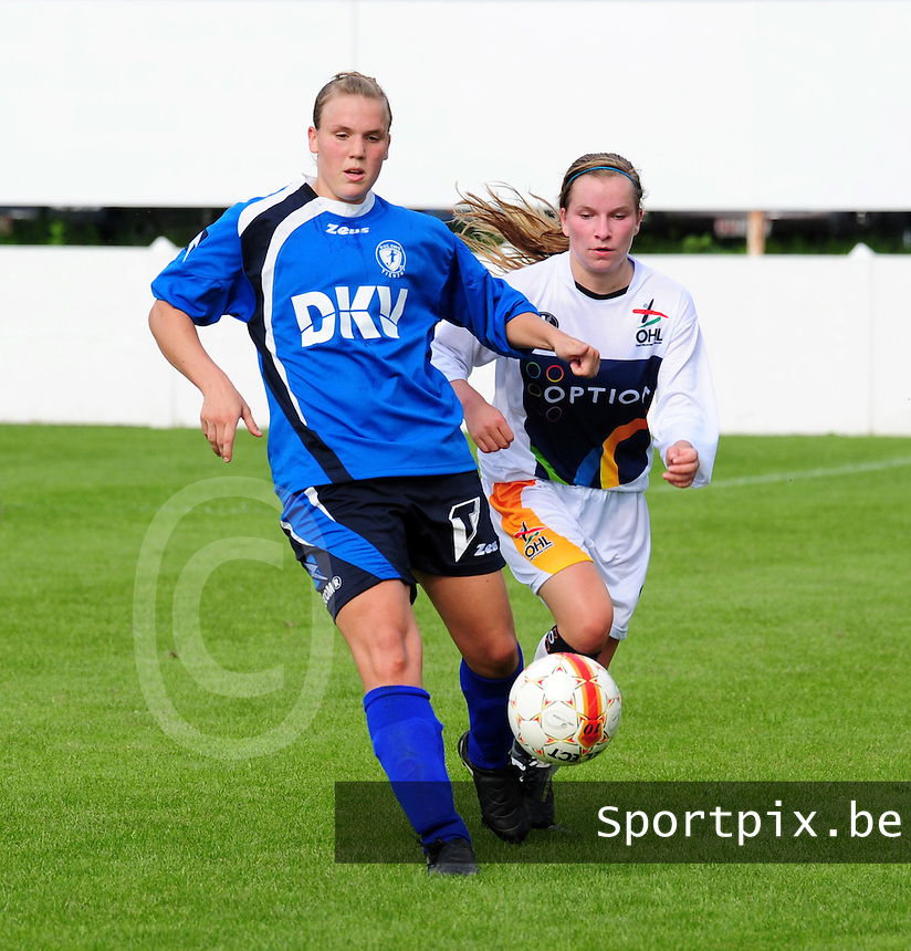 OHL Oud Heverlee Leuven - Evas Tienen : Anne Huybrechts en Karlijn Lycke
