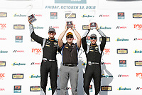 #12 eEuroparts.com Racing, Audi RS3 LMS TCR, TCR: Kenton Koch, Tom O'Gorman celebrate on the podium