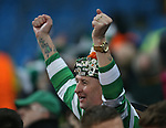 Celtic fans in fine voice during the Champions League Group C match at the Etihad Stadium, Manchester. Picture date: December 6th, 2016. Pic Simon Bellis/Sportimage