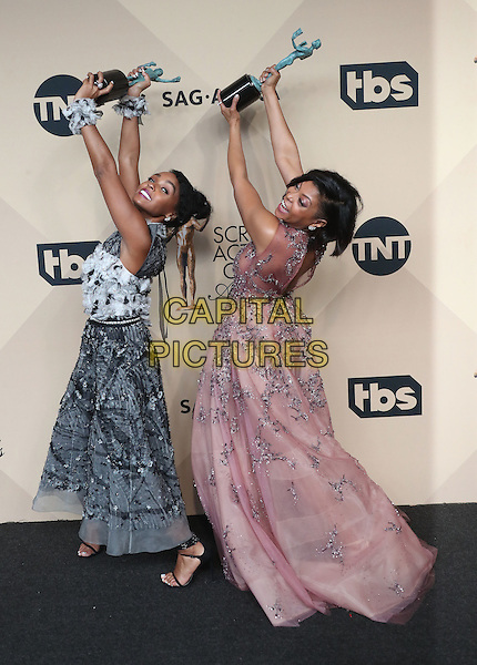 29 January 2017 - Los Angeles, California - Taraji P. Henson, Janelle Monae. 23rd Annual Screen Actors Guild Awards held at The Shrine Expo Hall. <br /> CAP/ADM/FS<br /> &copy;FS/ADM/Capital Pictures