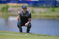Chris Paisley (ENG) looks over his putt on 17 during Round 2 of the Zurich Classic of New Orl, TPC Louisiana, Avondale, Louisiana, USA. 4/27/2018.<br /> Picture: Golffile | Ken Murray<br /> <br /> <br /> All photo usage must carry mandatory copyright credit (&copy; Golffile | Ken Murray)