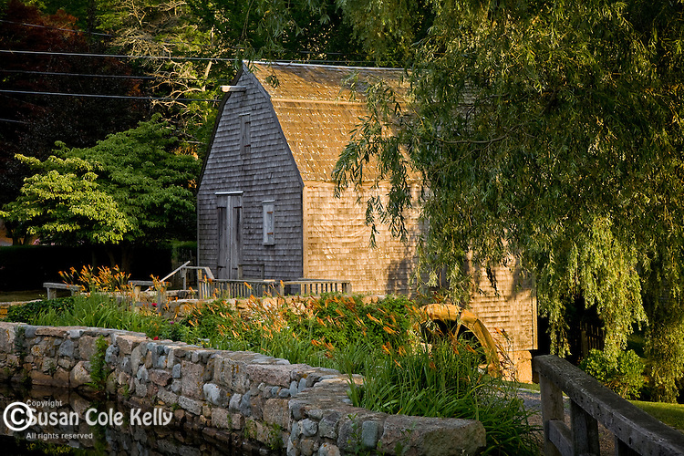 The Dexter Grist Mill, built in 1654, still grinds grain for flour in Sandwich, Cape Cod, MA, USA