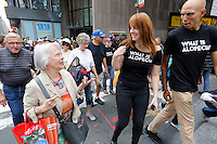Alopecia Areata Flash Mob in NYC.<br /> Walking to Times Square.