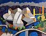 Bilbao, Spain<br /> 11x14 Acrylic on Canvas Original Painting<br /> $5,500