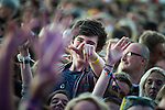 © Joel Goodman - 07973 332324 . 07/06/2015 . Manchester , UK . Festival goer in the crowd at the Parklife 2015 music festival in Heaton Park , Manchester . Photo credit : Joel Goodman