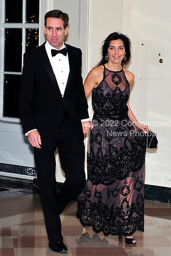 Joseph Beau Biden, III, Attorney General of Delaware and Hallie Biden arrive for the State Dinner in honor of President Hu Jintao of China at the White House In Washington, D.C. on Wednesday, January 19, 2011. .Credit: Ron Sachs / CNP