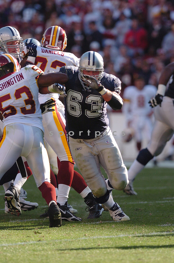 KYLE KOSIER, of the Dallas Cowboys ,during their game against  the  Washington Redskins on Novmeber 05, 2006 in Washington D.C....Redskins win 22-19..Tomasso DeRosa / SportPics