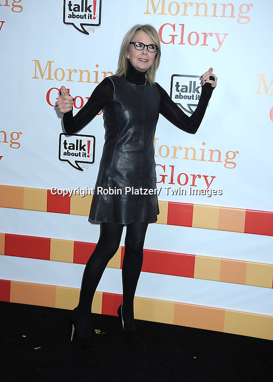 """Diane Keaton attending the World Premiere of """" Morning Glory"""" starring Harrison Ford, Diane Keaton and Rachel McAdams on November 7, 2010 at The Ziegfeld Theatre in New York City."""