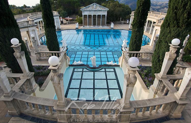 USA, CA, San Simeon, Neptune Pool at Hearst Castle