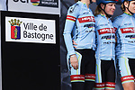 Health-Cyclelive Team at sign on before the 2018 Liege-Bastogne-Liege Femmes running 136km from Bastogne to Ans, Belgium. 22nd April 2018.<br /> Picture: ASO/Thomas Maheux | Cyclefile<br /> All photos usage must carry mandatory copyright credit (&copy; Cyclefile | ASO/Thomas Maheux)