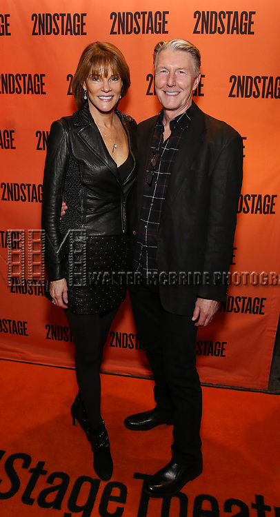 Carolyn McCormick and Byron Jennings attends the Off-Broadway Opening Night performance of the Second Stage Production on 'Torch Song'  on October 19, 2017 at Tony Kiser Theater in New York City.