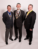From left, Vice President Alan Radford, President Richard Nelson and Deputy Vice President Michael Auty QC