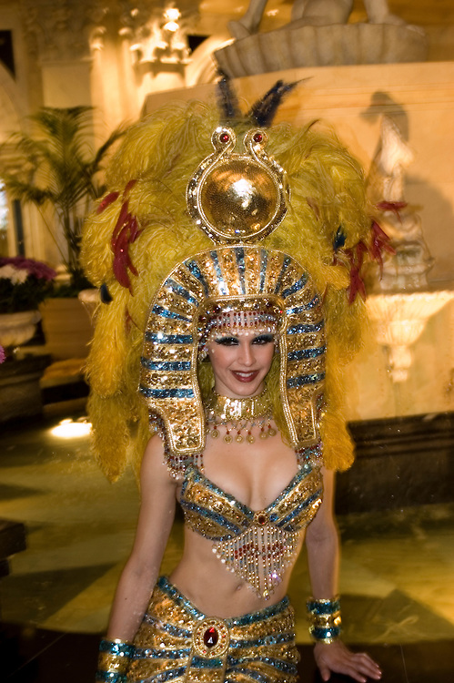 Entertainer Cleopatra at Caesars Palace in Las Vegas, Nevada, NV, Las Vegas, city, entertainment, entertainer, Cleopatra, Caesars Palace and Casino, model release, Photo nv280-17191..Copyright: Lee Foster, www.fostertravel.com, 510-549-2202,lee@fostertravel.com