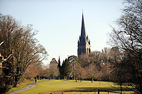 Walking by St. Mary's Cathedral in the Killarney Demesne.<br /> Picture by Don MacMonagle