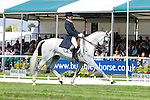 Regis Prud Hon riding Debuit during day 2 of the dressage phase at the 2012 Land Rover Burghley Horse Trials in Stamford, Lincolnshire,UK.