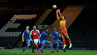 Rochdale's Josh Lillis stops the ball from an attempt at goal from Fleetwood Town<br /> <br /> Photographer Hannah Fountain/CameraSport<br /> <br /> The EFL Sky Bet League One - Rochdale v Fleetwood Town - Saturday 19 January 2019 - Spotland Stadium - Rochdale<br /> <br /> World Copyright © 2019 CameraSport. All rights reserved. 43 Linden Ave. Countesthorpe. Leicester. England. LE8 5PG - Tel: +44 (0) 116 277 4147 - admin@camerasport.com - www.camerasport.com
