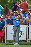 Xander Schauffele (USA) watches his tee shot on 18 during 2nd round of the World Golf Championships - Bridgestone Invitational, at the Firestone Country Club, Akron, Ohio. 8/3/2018.<br /> Picture: Golffile | Ken Murray<br /> <br /> <br /> All photo usage must carry mandatory copyright credit (© Golffile | Ken Murray)