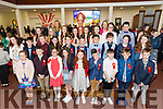 Pupils from Kilflynn NS after their confirmation in St Bernards Church, Abbeydorney by the Bishop of Kerry Ray Browne on Tuesday