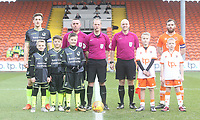 The match officials,mascots and captains line up before kick off<br /> <br /> Photographer Mick Walker/CameraSport<br /> <br /> The EFL Sky Bet League One - Blackpool v Bristol Rovers - Saturday 13th January 2018 - Bloomfield Road - Blackpool<br /> <br /> World Copyright &copy; 2018 CameraSport. All rights reserved. 43 Linden Ave. Countesthorpe. Leicester. England. LE8 5PG - Tel: +44 (0) 116 277 4147 - admin@camerasport.com - www.camerasport.com