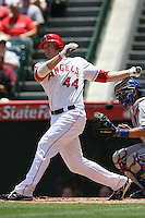 05/06/12 Anaheim, CA: Los Angeles Angels third baseman Mark Trumbo #44 during an MLB game against the Toronto Blue Jays played at Angel stadium. The Angels defeated the Blue Jays 4-3