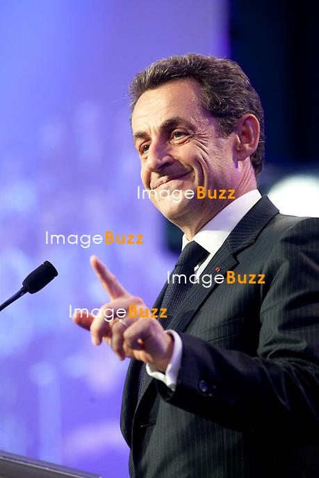 Meeting de Nicolas Sarkozy en Avignon pendant l'entre-deux tour des élections présidentielles 2012..30/04/2012