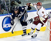 Ryan Donald (Yale - 25), Brian Dumoulin (BC - 2) - The Boston College Eagles defeated the Yale University Bulldogs 9-7 in the Northeast Regional final on Sunday, March 28, 2010, at the DCU Center in Worcester, Massachusetts.