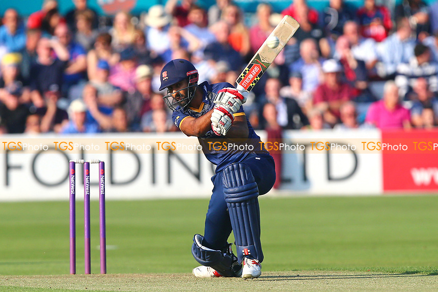Varun Chopra in batting action for Essex during Essex Eagles vs Somerset, NatWest T20 Blast Cricket at The Cloudfm County Ground on 13th July 2017