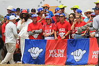 USA support at the 10th green during the Second Round - Foursomes of the Presidents Cup 2019, Royal Melbourne Golf Club, Melbourne, Victoria, Australia. 13/12/2019.<br /> Picture Thos Caffrey / Golffile.ie<br /> <br /> All photo usage must carry mandatory copyright credit (© Golffile | Thos Caffrey)