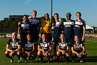 Sky Blue FC starting eleven. Sky Blue FC defeated the Washington Spirit 1-0 during a National Women's Soccer League (NWSL) match at Yurcak Field in Piscataway, NJ, on July 6, 2013.