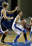 Junior guard Kastine Evans attacks the rim at the Women's Basketball game at Memorial Coliseum in Lexington, Ky., on Saturday, November. 17, 2012..