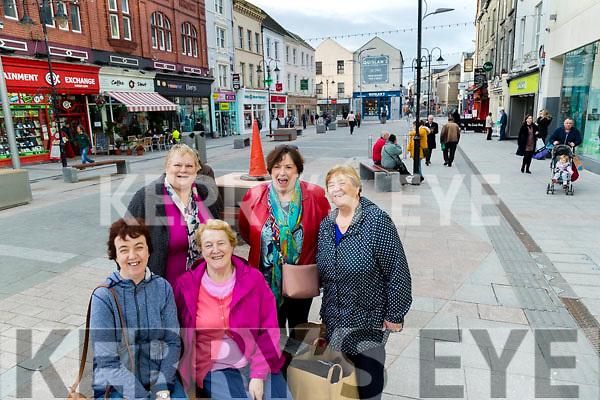 Mary O'Sullivan Marie Sinnott, Maureen O'Sullivan, Mary Reck and Joanna O'Sullivan pictured at The Mall Tralee on Wednesday.
